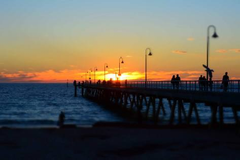 Glenelg Pier at Sunset